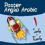 jual poster angka arabic