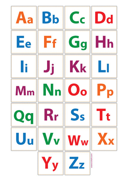 Poster Alfabet ABC
