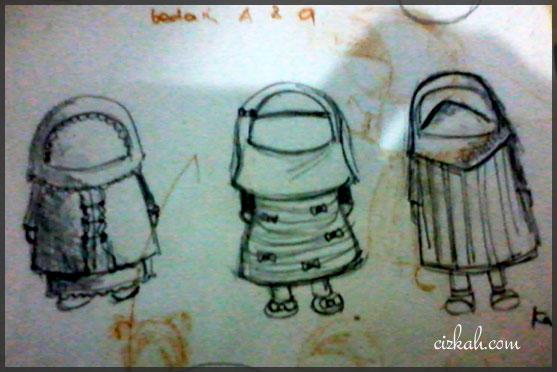 Sketch AKhowat ANak Perempuan
