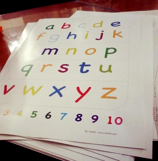 Jual Poster Alphabet Huruf Kecil